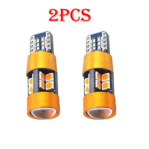 2x Amber T10 168 194 2825 W5w 19 Smd Led Car Position Parking City Lights Bulbs