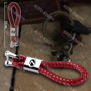 For Lexus Emblem Logo Key Chain Ring Bv Style Calf Leather Gift Decoration Red
