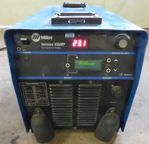 2010 Miller Invision 456mp Pulsed Mig Tig Stick Inverter Multi Process Welder