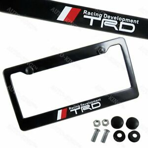 X1 Trd Car Abs License Plate Frame With Caps For Toyota Frs Supra Mr2 Tc Gt New