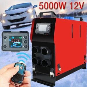 12v 5kw Air Diesel Heater 1 Hole All In One Rotary Monitor For Trucks Boats Bus