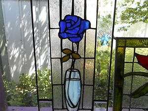 Stained Glass Window Mothers Day Rose Beveled Frame