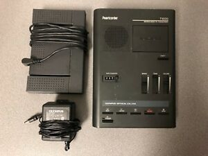 Olympus Pearlcorder Microcassette Transcriber T1000 Foot Switch Rs 19