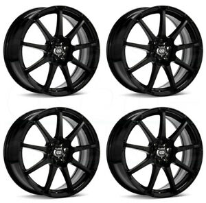 4 new 17 Enkei Edr9 Wheels 17x7 4x100 114 3 38 Black Paint Rims