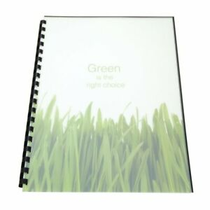 Swingline Gbc Recycled Poly Presentation Covers 8 5 By 11 Inches square Corners