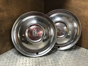 Vintage 1951 1952 Plymouth Oe 15 Hubcaps Wheel Covers