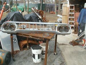 1958 Ford Chrome Truck Grill Complete Will Fit 59 1960