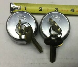 2used Corbinrusswin Mortise Cylinder 1 5 16 6 pin 2 Corbin Key Blanks W Rings