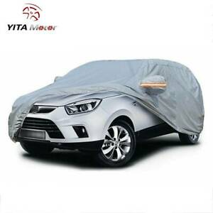Full Breathable Car Cover Waterproof Suv All Weather Protection Sun Resistant