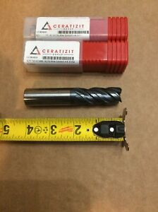 3 4 Ceratizit 4 Flute Carbide End Mill Qty 3