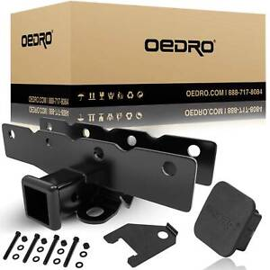 Oedro 2 Textured Trailer Hitch Receiver For 2018 2021 Jeep Wrangler Jl Jlu