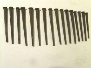 16 Steel Cut Square Antique Vintage Nails Spikes Up To 5 Long