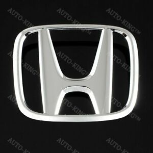 Chrome Front Grille H Emblem For 2016 2017 2018 Honda Civic Coupe Sedan Hatch