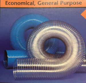 2 id Cvd Clear Pvc Hose ducting With Wire Helix 25 Ft