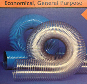 5 id Cvd Clear Pvc Hose ducting With Wire Helix 20 To 180 f 25 Ft