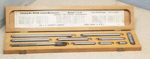 Starrett No 823 Inside Micrometer 1 1 2 To 12 With Wooden Protective Case