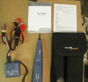 Fluke Networks Pro3000 Tone Probe Kit 26200 900 Analog W case Manual