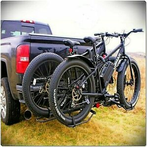 Fat Tire Bike Rack Mount Trailer Big Hitch Tray Suv Universal Carrier Tray Style