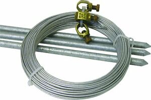 3ft Farm Grounding Kit Electric Horse Fence Grounding Rods Steel Ground Wire