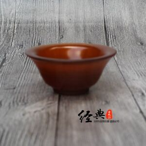 China Handmade Real Ox Horn Carved Transparent Solid Horn Bowl