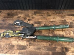 Greenlee 757 Ratcheting Acsr Cable Cutter With Extra Hk Porter 8690fh Head