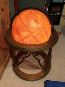 Vintage 16 Political Terrestrial Cram Butler Light Up Floor Library Globe