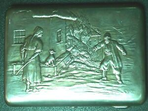 A Russian 84 Silver Cigarette Case