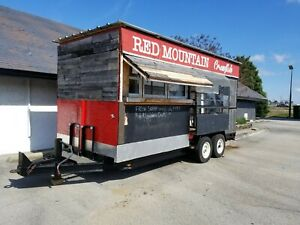 7 x18 Enclosed Concession Food Vending Crawfish Trailer W 3500 Insulated Van