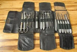 Antique Haussmann Dunn H D Co 30 Pc Surgical Instruments W Original Case