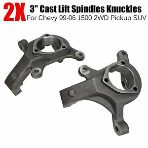 3 Front Lift Spindles Suspension Level Kit For 99 06 Chevy 1500 2wd Pickup Suv