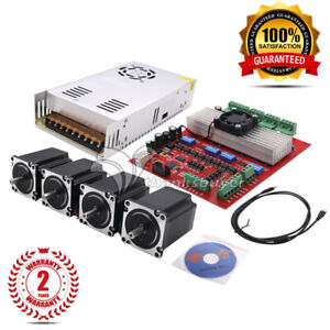Mach3 Cnc 4 axis Kit Tb6560 Stepper Motor Controller 4pc Nema23 Stepper Motor 57