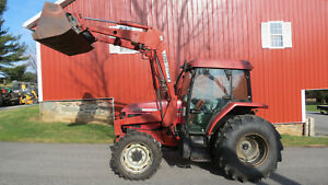 1998 Case International Cx80 4x4 Utility Tractor W Cab Loader Heat A c 80 Hp