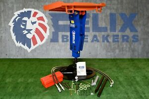 Felix Hydraulic Hammer Breaker Fit To 5000 To 10000lbs Skid Steer Mini Excavator