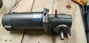 Leeson M1135062 00 Permanent Magnet D c Gearmotor Cm24d25nz33b Right Angle