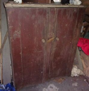 1700s Antique Jelly Cabinet Cupboard 4 Shelves