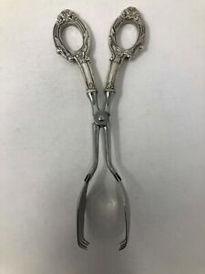 Web Sterling Silver Handle Pastry Tongs 7 7 8 No Mono