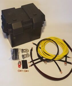Civic Yellow 0 Gauge D Series Battery Box Relocation Kit W New Ground Wires