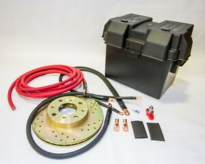 Honda Civic Red 0 Gauge D Series Battery Relocation Kit W battery Box
