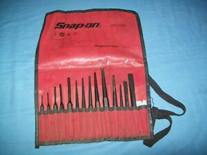 Snap On Ppc715bk 15 Piece Punch And Chisel Set In Bag Exc