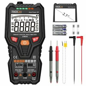 Tacklife Dm06 Trms 6000 Counts Tester Auto ranging Electronic Amp Volt Ohm New