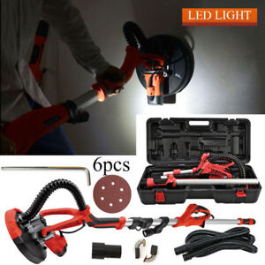 New Electric Drywall Sander Sanding Tool Dry Wall Carrying Case Kit Led Light