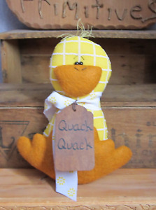 Primitive Easter Yellow Duck Bowl Fillers Ornies