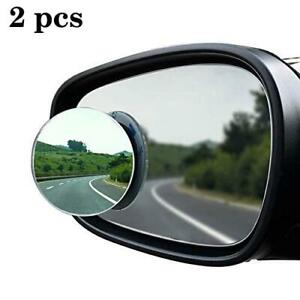 2 Pcs Universal 2 Wide Angle Convex Rear Side View Blind Spot Mirror For Car