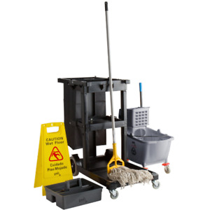 Whole Kit Lavex Cleaning Cart Commercial Janitor Mop Head Bucket Housekeeping