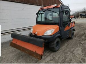 2012 Kubota Rtv1100 Utility Cart Truck With Plow And Salter Only 2500 Hrs