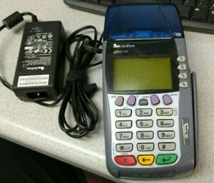 Verifone Omni 3750 Credit Card Terminal Reader With Ac Adapter Works
