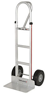 New Utility Push Cart 500 Lbs Capacity Dolly 2 Wheel Hand Truck Aluminum Trolley
