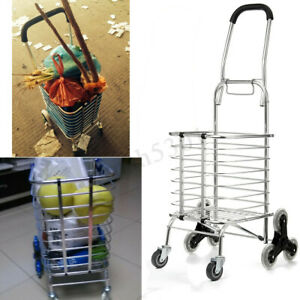 8 Wheels Folding Portable Stair Ladder Climbing Shopping Cart Trolley Climber