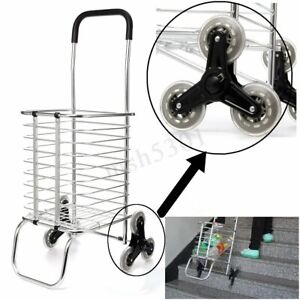 6 Wheels Folding Portable Stair Home Travel Shopping Cart Trolley Ladder