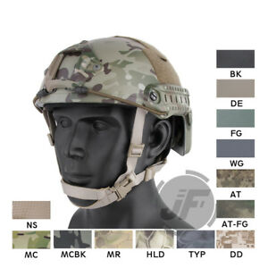 Emerson Tactical Fast Helmet MICH Ballistic Type Advanced NVG Shroud + Rails